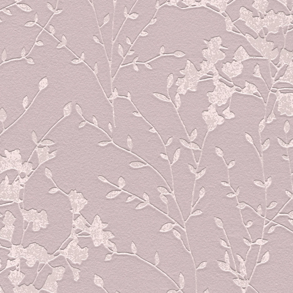 Шпалери AS Creation Designdschunge 36082-2 куст на темно-фиолетовом 0,53 х 10,05 м