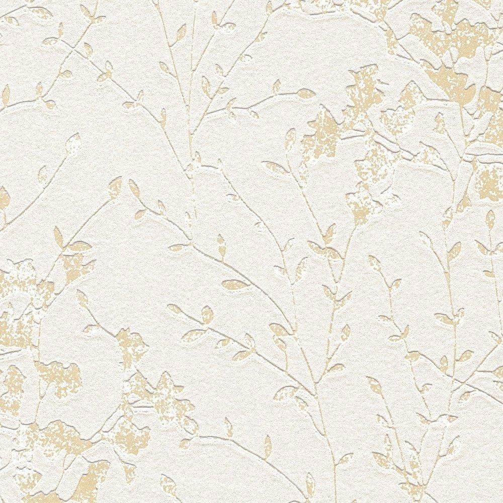 Шпалери AS Creation Designdschunge 36082-3 кущ на бежево-сірому 0,53 х 10,05 м