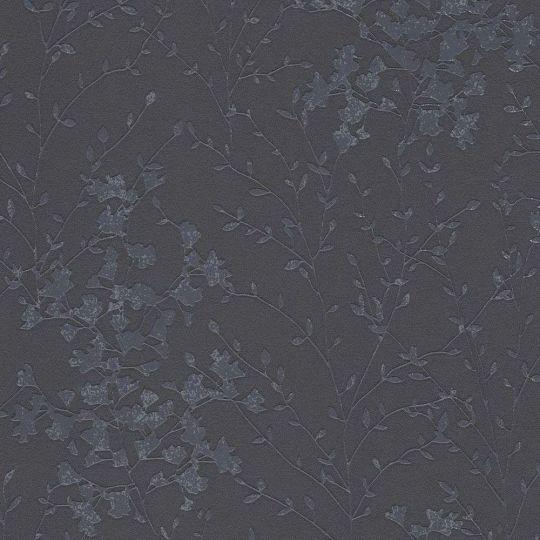 Шпалери AS Creation Designdschunge 36082-6 кущ на чорному фоні 0,53 х 10,05 м