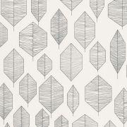Шпалери AS Creation Colibri 36209-2 чорно-білий лист модерн 0,53 х 10,05 м