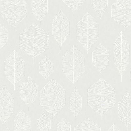 Шпалери AS Creation Colibri 36209-3 лист модерн на світло-сірому 0,53 х 10,05 м