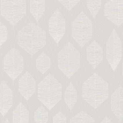 Шпалери AS Creation Colibri 36209-5 лист модерн на сірому 0,53 х 10,05 м