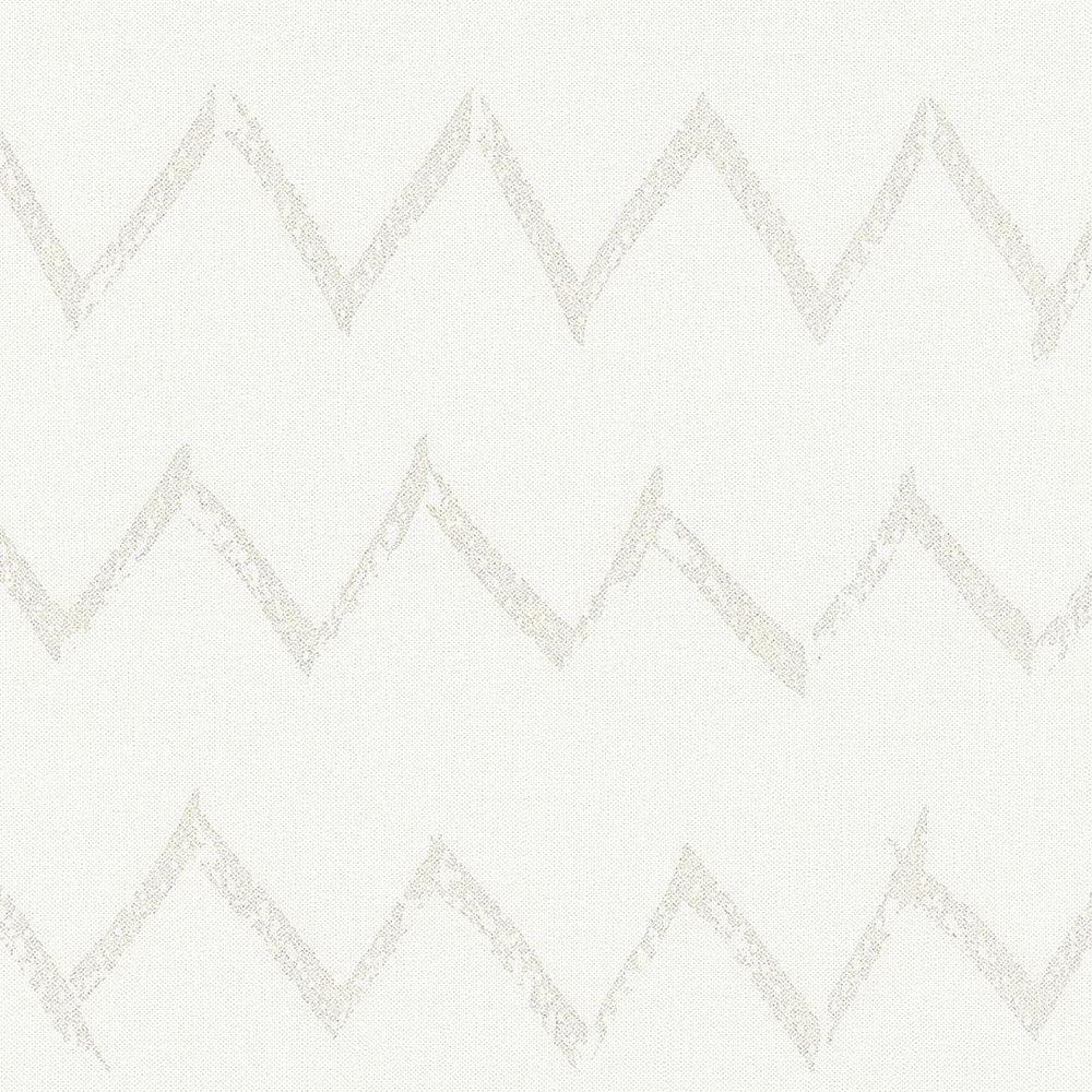 Шпалери AS Creation Designdschunge 36574-1 бежевий зігзаг на білому 0,53 х 10,05 м