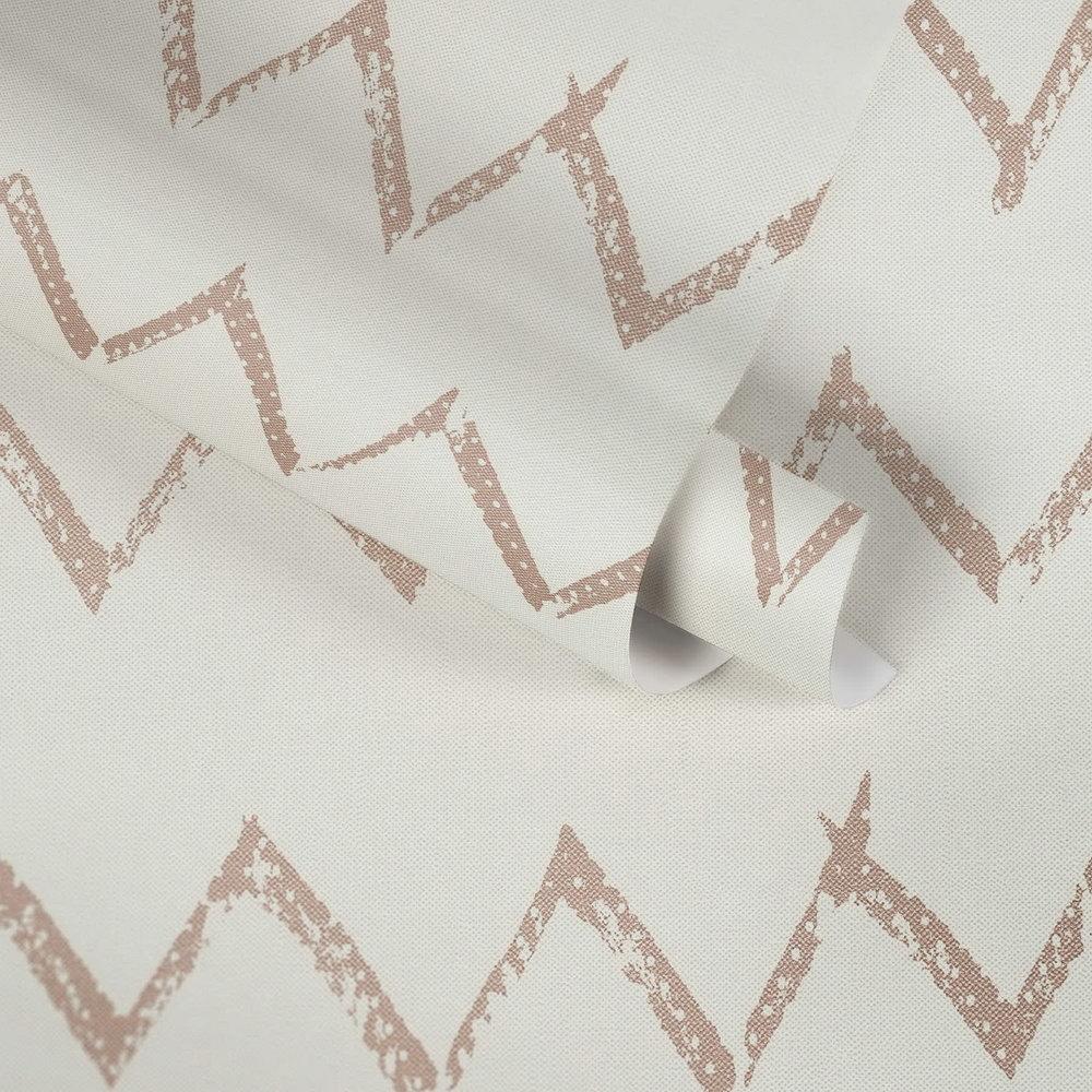 Шпалери AS Creation Designdschunge 36574-3 мідний зігзаг на білому 0,53 х 10,05 м