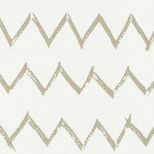 Обои AS Creation Designdschunge 36574-4 золотой зигзаг на белом 0,53 х 10,05 м