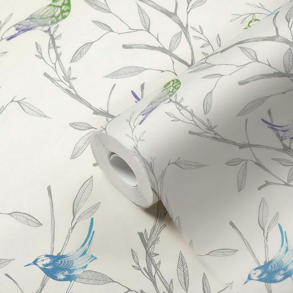 Обои AS Creation Colibri 36623-1 птички на деревьях 0,53 х 10,05 м
