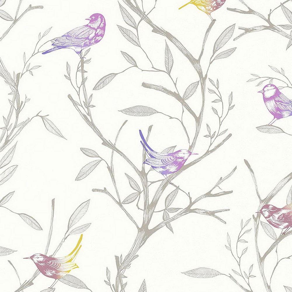 Обои AS Creation Colibri 36623-2 птички на деревьях 0,53 х 10,05 м