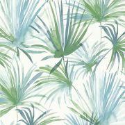 Обои AS Creation Colibri 36624-2 зеленые листья акварелью 0,53 х 10,05 м