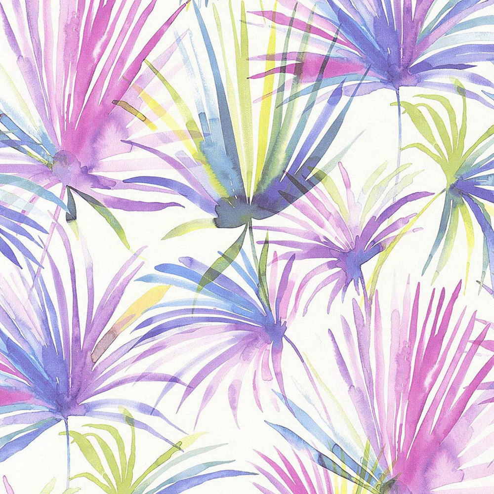 Обои AS Creation Colibri 36624-3 фиолетовые листья акварелью 0,53 х 10,05 м