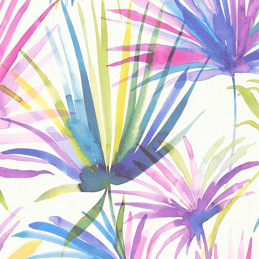 Шпалери AS Creation Colibri 36624-3 фіолетові листя акварелью 0,53 х 10,05 м
