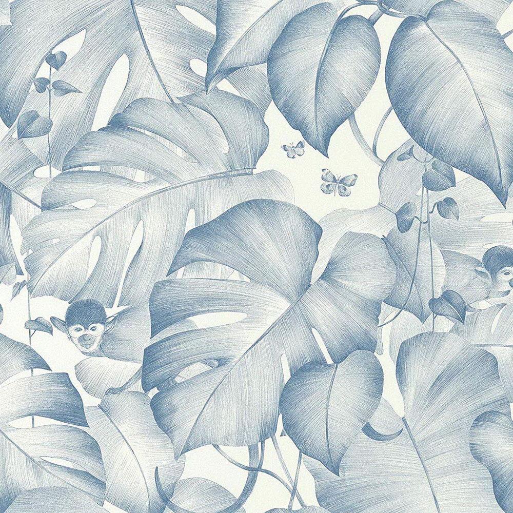 Обои AS Creation Colibri 36625-1 обезьянки в джунглях синий 0,53 х 10,05 м
