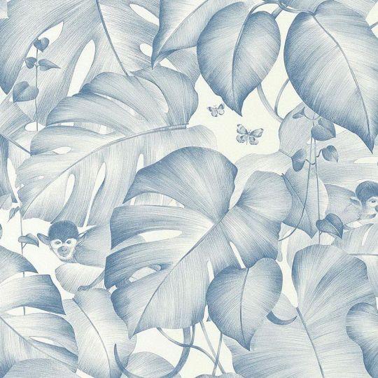 Шпалери AS Creation Colibri 36625-1 мавпочки в джунглях синій 0,53 х 10,05 м