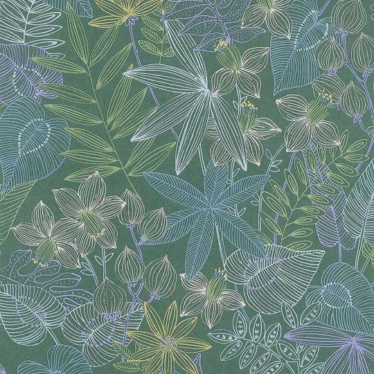 Обои AS Creation Colibri 36630-2 джунгли рисунок зеленый 0,53 х 10,05 м