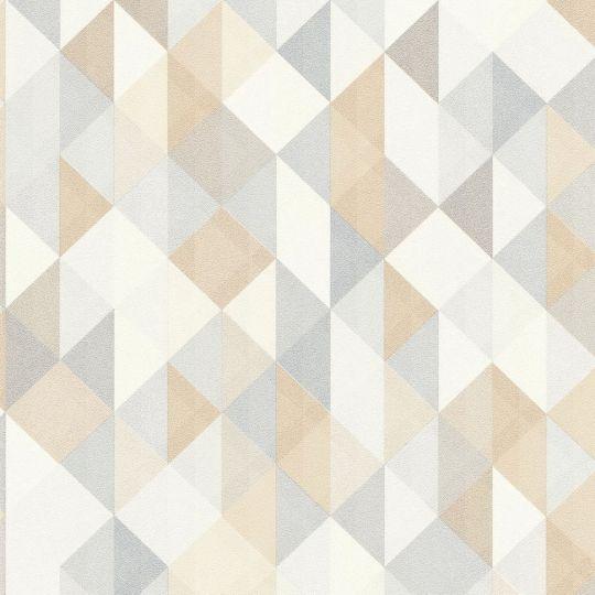 Шпалери AS Creation Trendwall 36786-2 ромби і трикутники персиково-сині