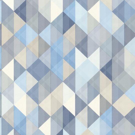 Шпалери AS Creation Trendwall 36786-3 ромби і трикутники сині