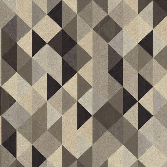Шпалери AS Creation Trendwall 36786-4 ромби і трикутники темно-сірі