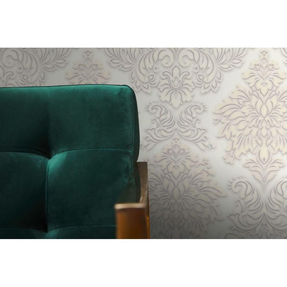 Шпалери AS Creation Metropolitan  36898-2 білий гобелен класика 0,53 х 10,05 м