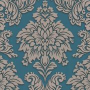 Шпалери AS Creation Metropolitan  36898-5 бежевий гобелен на синем 0,53 х 10,05 м