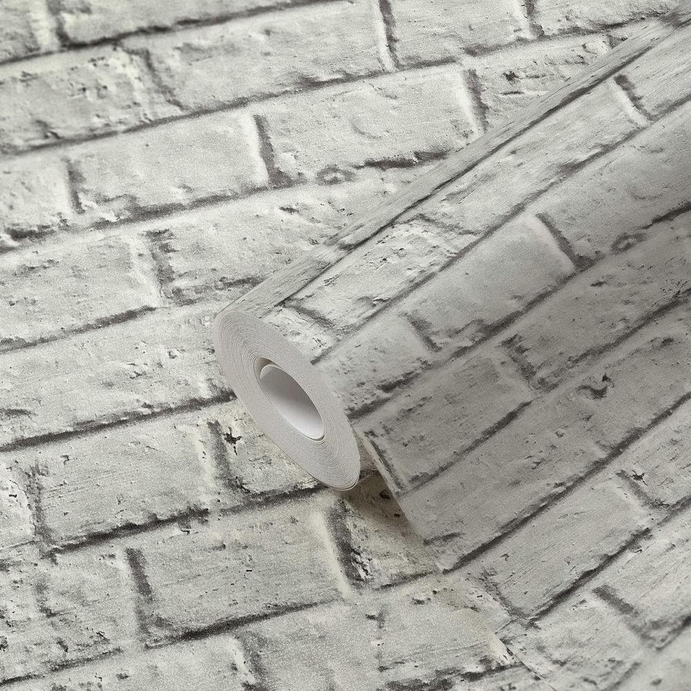 Шпалери AS Creation Metropolitan  36912-2 лофт під біло-сіру цеглу 0,53 х 10,05 м