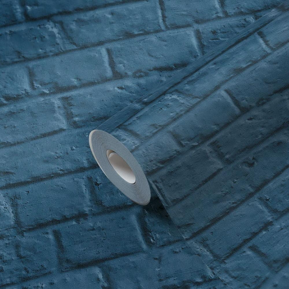 Шпалери AS Creation Metropolitan  36912-3 лофт під синю цеглу 0,53 х 10,05 м