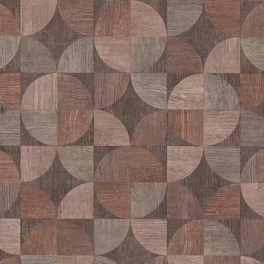Обои AS Creation Metropolitan  36913-1 деревянный спил коричневый 0,53 х 10,05 м