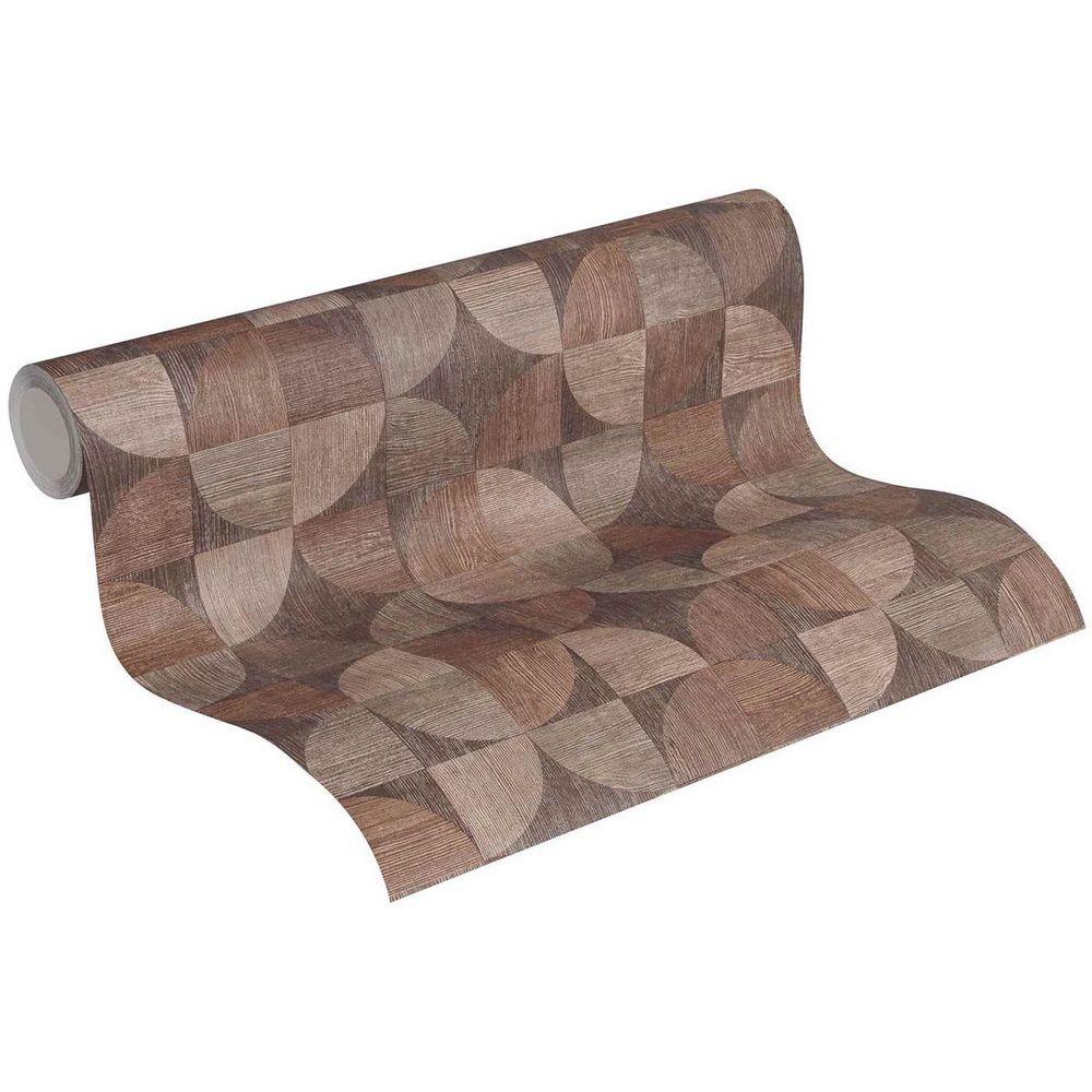 Шпалери AS Creation Metropolitan  36913-1 дерев'яний спіл коричневий 0,53 х 10,05 м