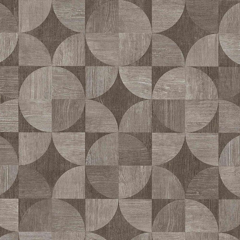 Обои AS Creation Metropolitan  36913-2 деревянный спил серо-коричневый 0,53 х 10,05 м