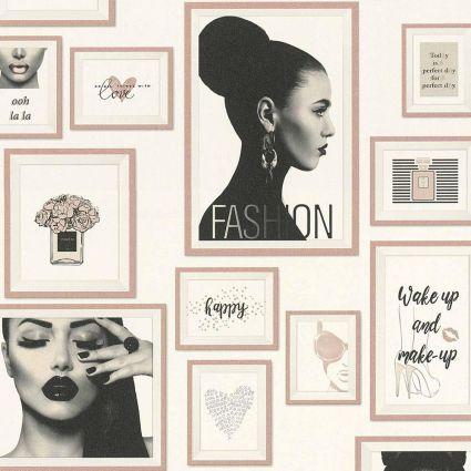 Шпалери AS Creation Metropolitan  36918-3 рамки fashion рожеві 0,53 х 10,05 м