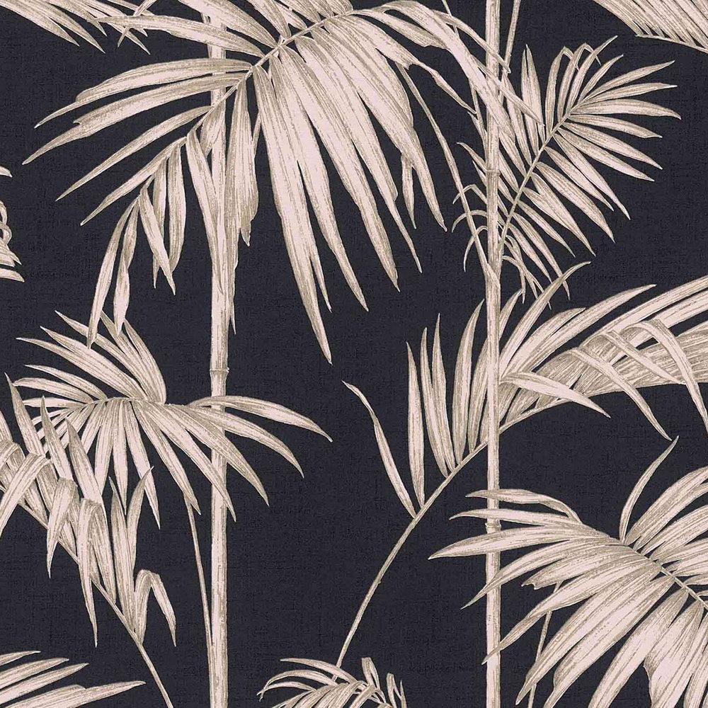 Шпалери AS Creation Metropolitan  36919-1 бежеві пальми на чорному 0,53 х 10,05 м