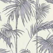Обои AS Creation Metropolitan  36919-2 серые пальмы на белом 0,53 х 10,05 м