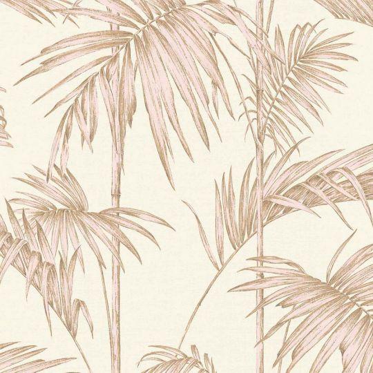 Шпалери AS Creation Metropolitan  36919-3 рожеві пальми на кремовому 0,53 х 10,05 м