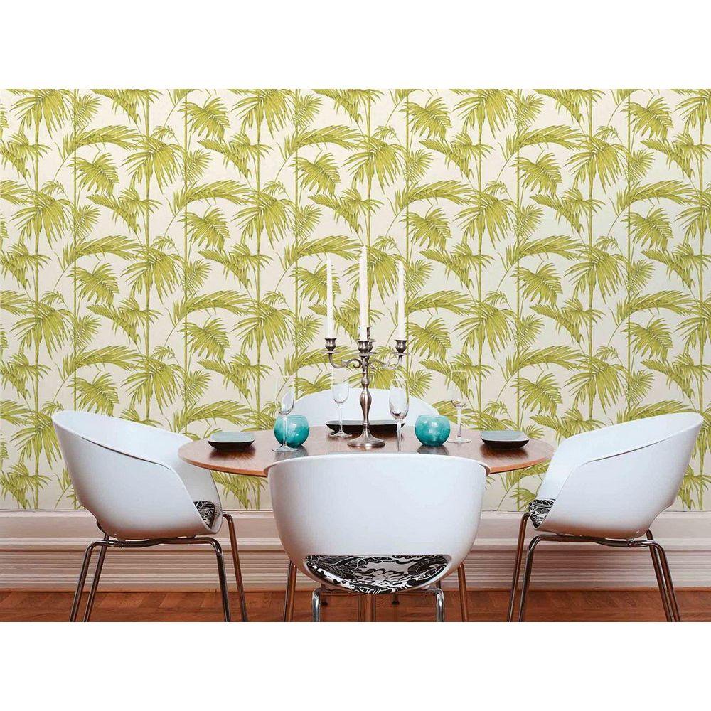Обои AS Creation Metropolitan  36919-4 салатовые пальмы на кремовом 0,53 х 10,05 м