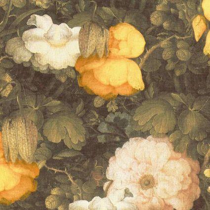 Обои AS Creation Metropolitan  36921-1 желто-белые цветы холст  0,53 х 10,05 м