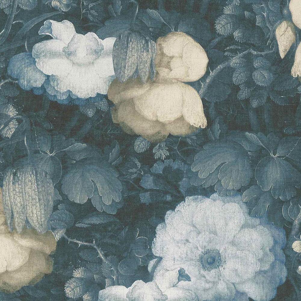 Шпалери AS Creation Metropolitan  36921-3 біло-бежеві квіти холст 0,53 х 10,05 м