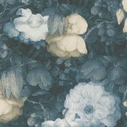 Обои AS Creation Metropolitan  36921-3 бело-бежевые цветы холст 0,53 х 10,05 м