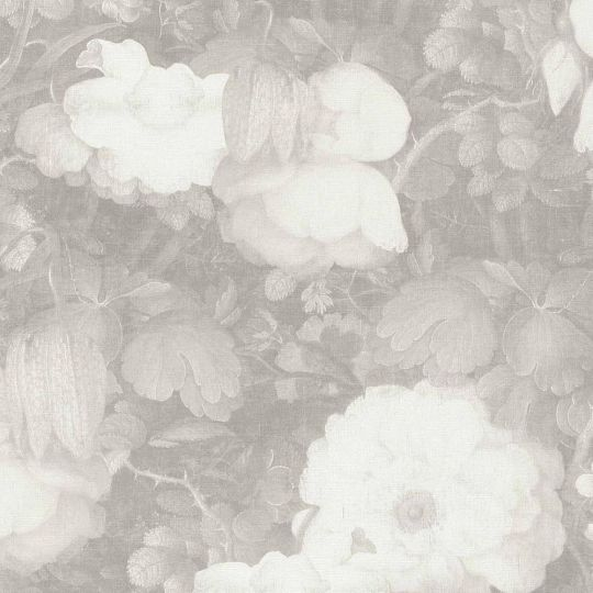 Обои AS Creation Metropolitan  36921-4 белые цветы холст 0,53 х 10,05 м