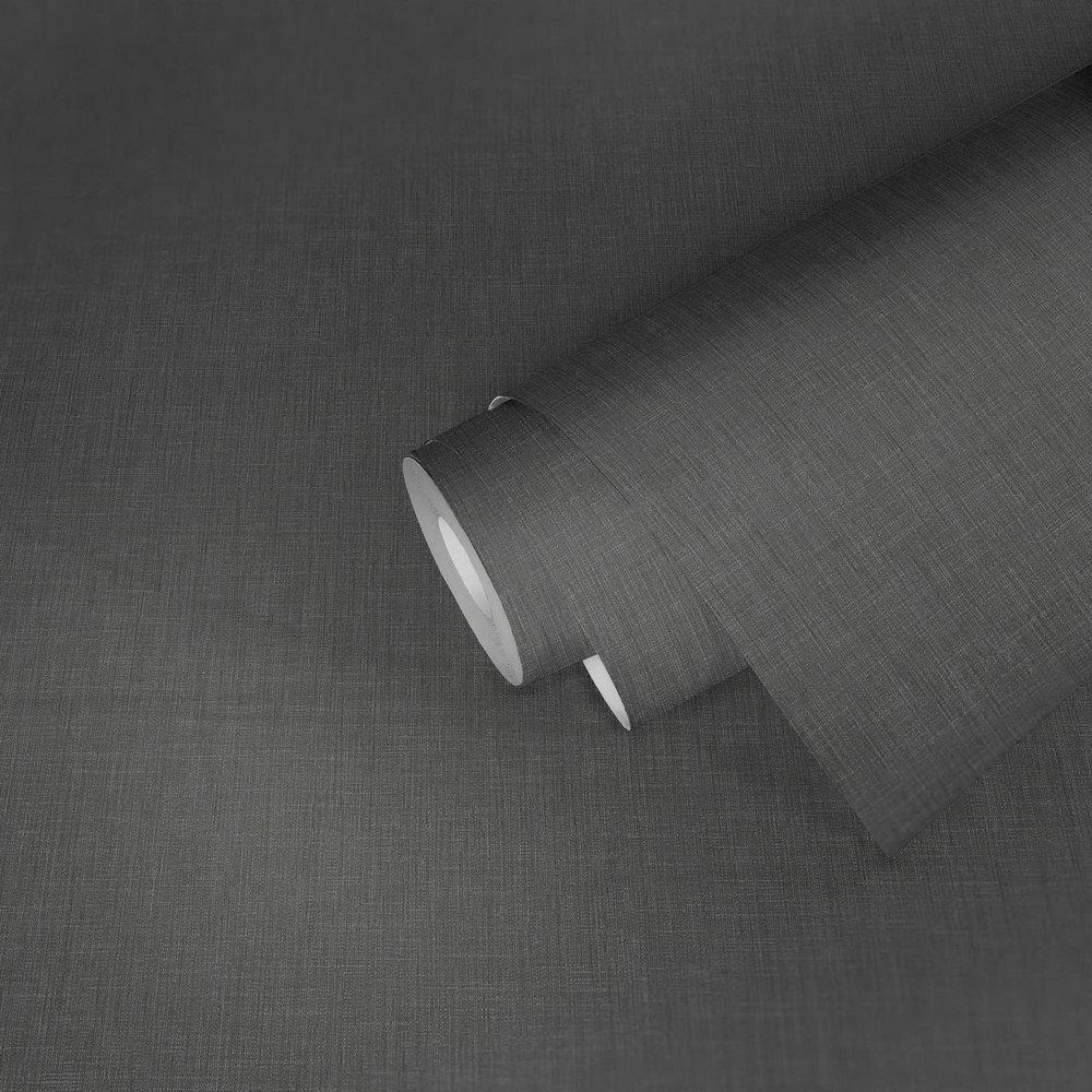 Шпалери AS Creation Metropolitan  36922-3 однотонка льон темно-сірий 0,53 х 10,05 м