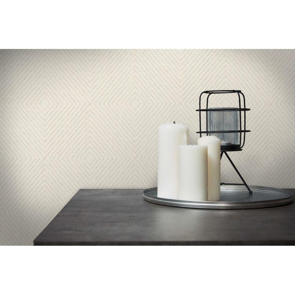 Шпалери AS Creation Metropolitan  36926-3 ромби абстрактні білі 0,53 х 10,05 м