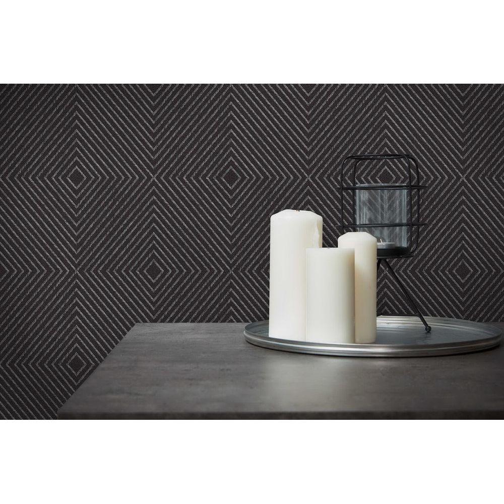 Шпалери AS Creation Metropolitan  36926-5 ромби абстрактні чорні 0,53 х 10,05 м