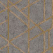 Обои AS Creation Metropolitan  36928-1 геометрия на бетоне коричневый 0,53 х 10,05 м