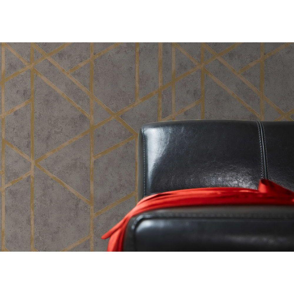 Шпалери AS Creation Metropolitan  36928-1 геометрія на бетоні коричневий 0,53 х 10,05 м