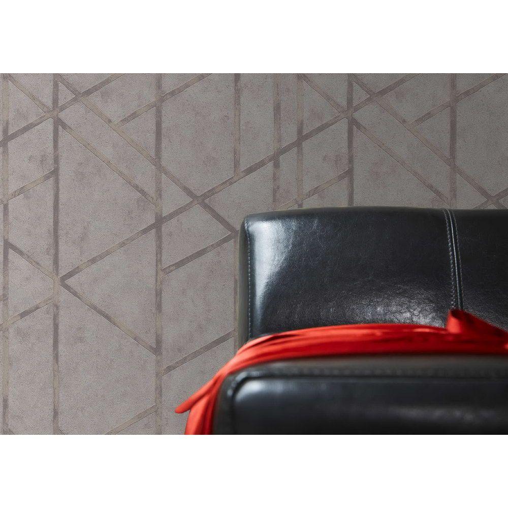 Обои AS Creation Metropolitan  36928-2 геометрия на бетоне серый 0,53 х 10,05 м