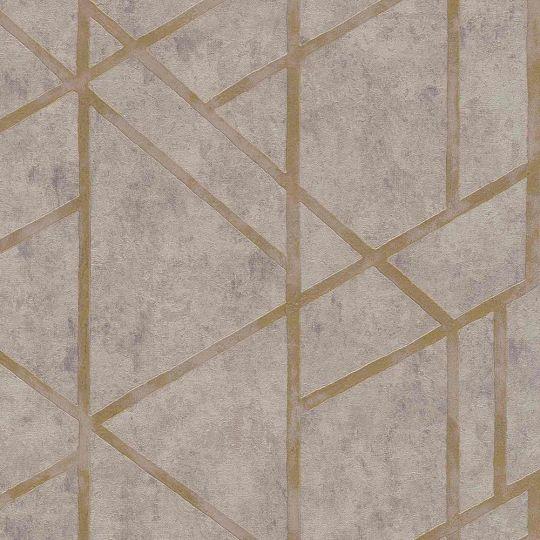 Шпалери AS Creation Metropolitan  36928-3 геометрія на бетоні коричневий 0,53 х 10,05 м