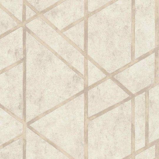 Шпалери AS Creation Metropolitan  36928-4 геометрія на бетоні бежевий 0,53 х 10,05 м