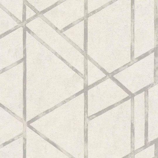 Обои AS Creation Metropolitan  36928-5 геометрия на бетоне белый 0,53 х 10,05 м