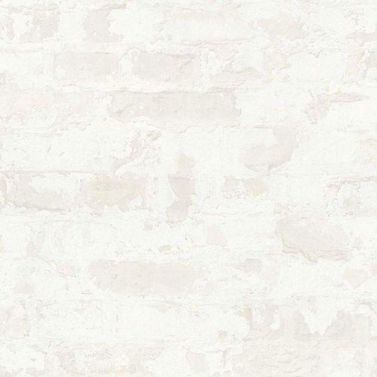 Обои AS Creation Metropolitan  36929-4 белый кирпич в штукатурке 0,53 х 10,05 м