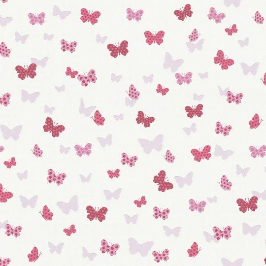 Шпалери AS Creation Attractive 36933-1 метелики біло-рожеві