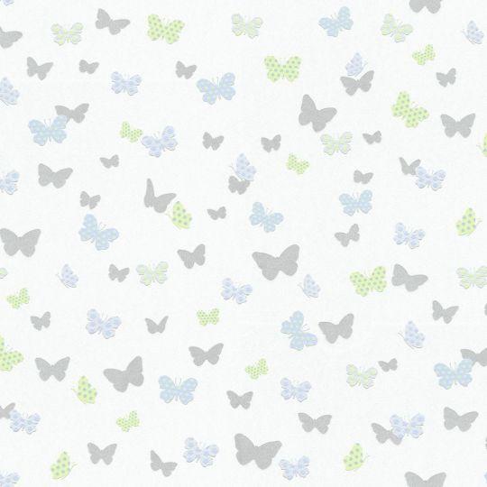 Шпалери AS Creation Attractive 36933-3 метелики біло-блакитні