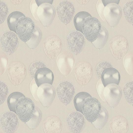 Шпалери AS Creation Happy 37150-1 повітряні кульки сірі