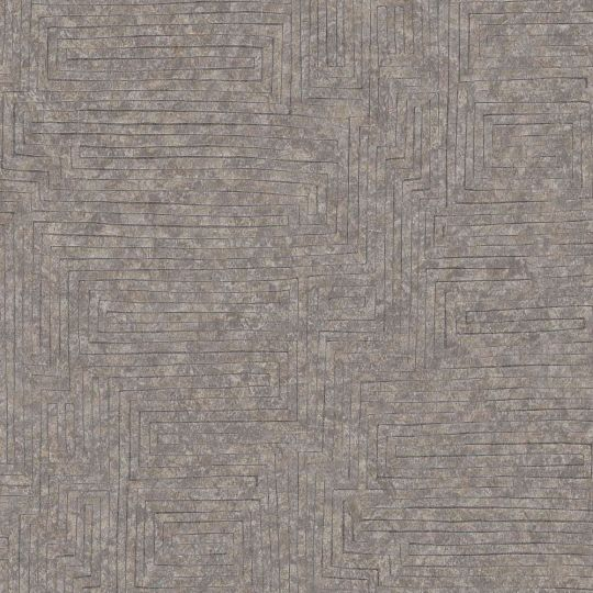 Шпалери AS Creation Origin Ethno 37171-1 коричневий лабиринт 0,53 х 10,05 м